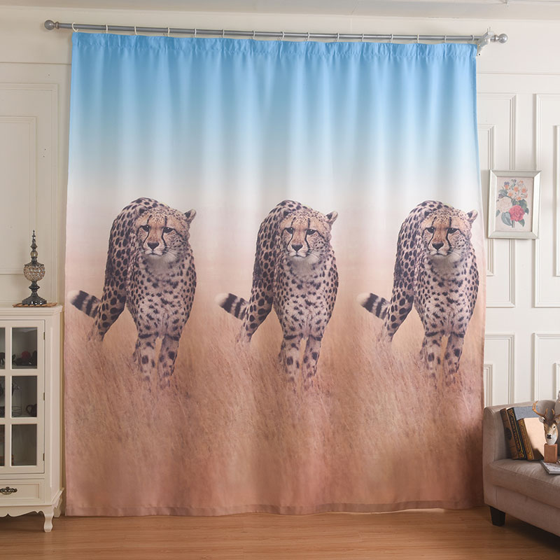 Popular animal print curtains buy cheap animal print for Animal print window treatments