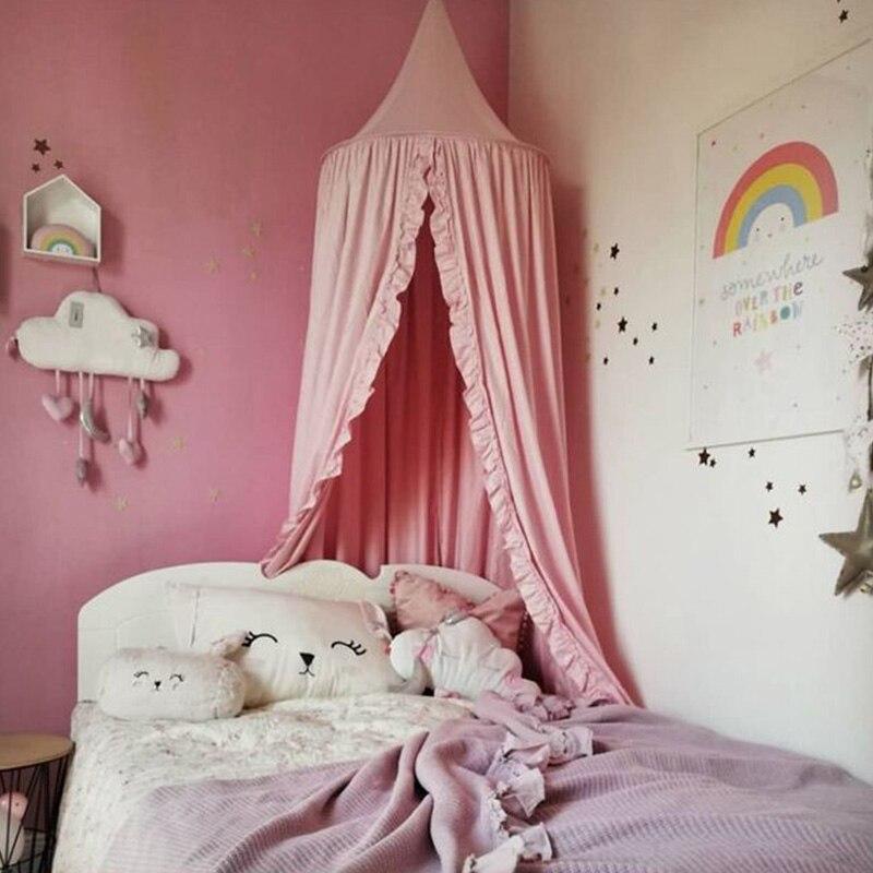 Nouveau rond bébé berceau filet lit moustiquaire dôme suspendu coton lit baldaquin moustiquaire rideau pour hamac enfants chambre décor