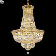 gold Chandeliers minimalist luxury hotel hall lamp headlight lamp crystal lamp bedroom lamp Home 56cm W x 80cm H