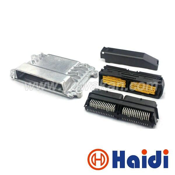 Free shipping 1set 90pin ECU Aluminum Enclosure Box and FCI PCB male female ECU auto connector