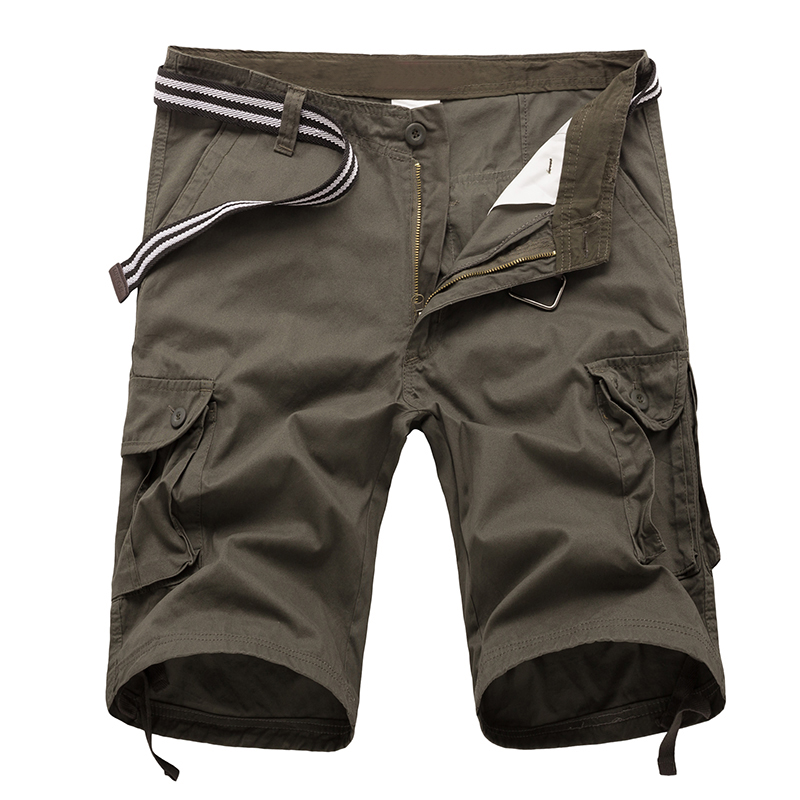 New 2018 Mens Summer Cotton Cargo Short Military Male Fashion Pockets Beach Short Casual Joggers Men Brand Clothing 29-44