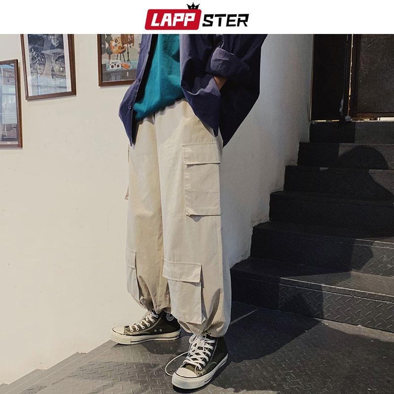 cf7d2dce5 Pantalones Harajuku Harem para hombre 2019 verano Vintage Streetwear  Joggers Cargo Pantalones negro ...