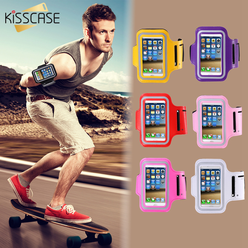 KISSCASE Universal Waterproof Sport Armband Case For iPhone 5S 5C 5 5G 4S 4 Adjustable 5S 4S Running Walking Wristband Bag Cover