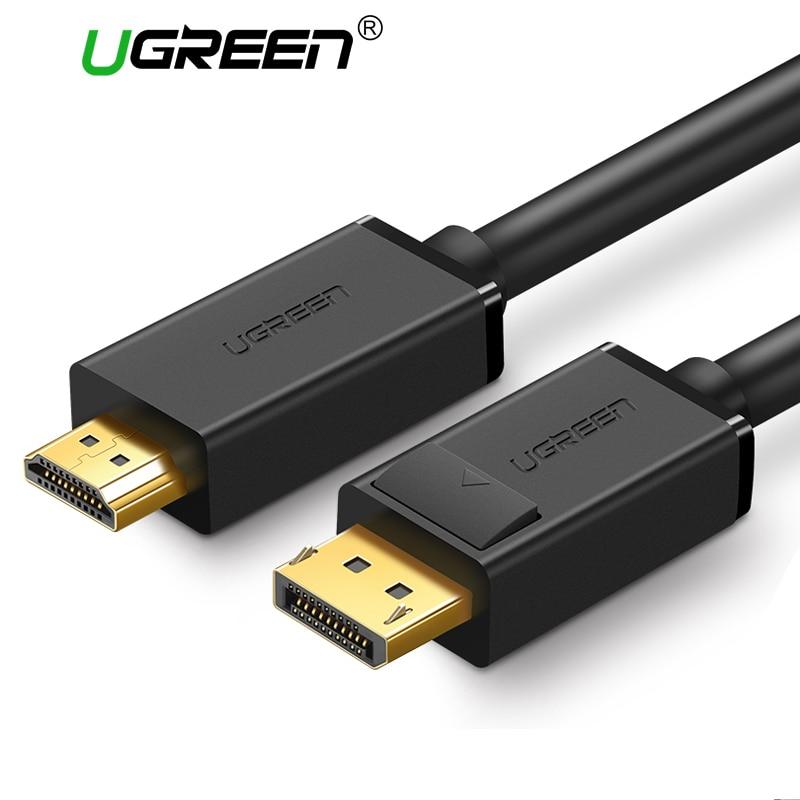 Ugreen 4 k Displayport Vers HDMI Adaptateur Câble DP Mâle vers HDMI Mâle Convertisseur Vidéo Audio Câble 2 m 3 m pour HDTV Projecteur Ordinateur Portable
