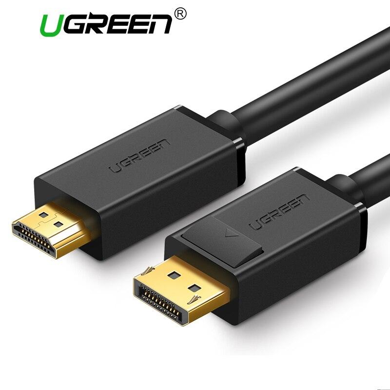 Ugreen 4 karat Displayport zu HDMI Adapter Kabel DP Stecker auf HDMI Stecker Konverter Video Audio Kabel 2 mt 3 mt für HDTV Projektor Laptop