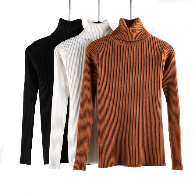 2018 Winter Clothing Turtleneck Women Sweater Autumn Jumper Plus Size Jersey Pull Female Pullover Lady Coat Cashmere Knitted 1