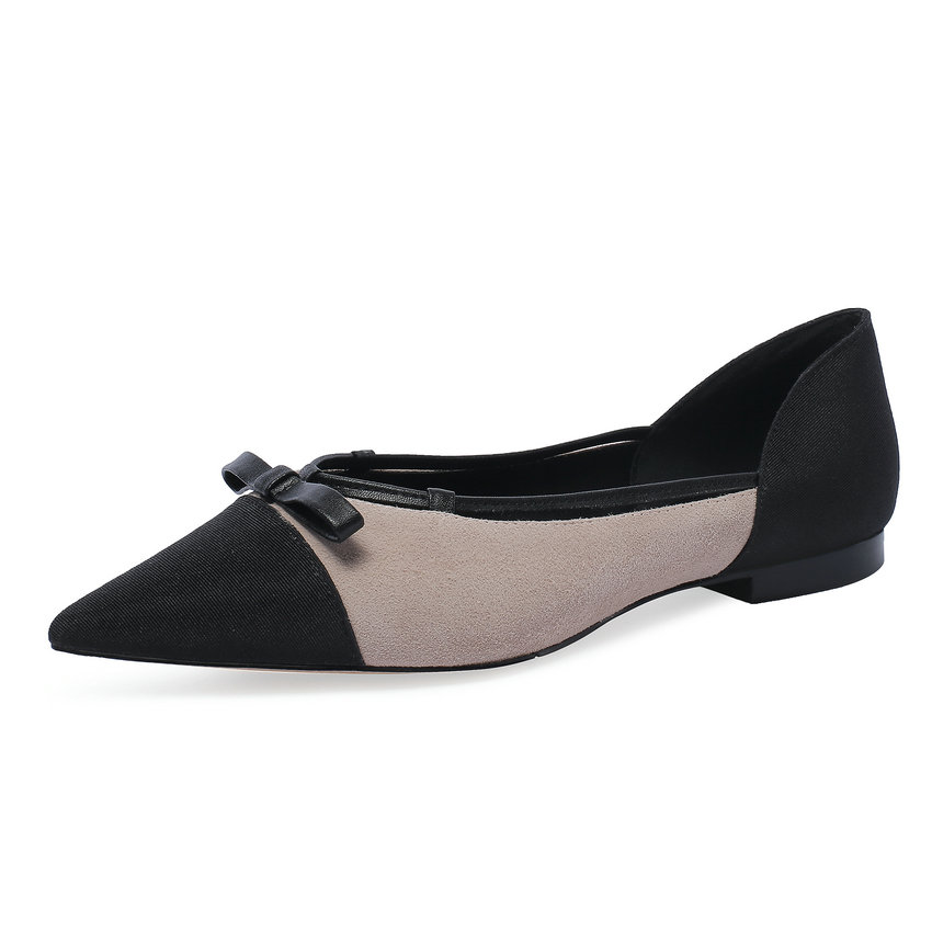 forme Femmes 39 Qutaa Faible Bout Apricot Plate Printemps Pointu 34 Daim Taille En Chaussures Pompes Dames automne Mode 2019 gris Vache Talon PfHxwfqA