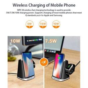 Image 4 - 3 Trong 1 Tề Đế Sạc Không Dây Dành Cho AirPods Đồng Hồ Apple IPhone 8 Plus X XR XS Samsung S9 S8 s10 Không Dây Đế Sạc