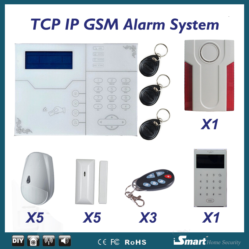2017 Hot Sell Home Alarm ST-VGT Touchscreen Keyboard Alarm Control Panel with RFID Keypad and Outdoor Flash Siren, Free Ship 2015 most advanced 868mhz rfid touchscreen keypad gsm tcp ip ethernet rj45 alarm system with doorway keypad and outdoor siren