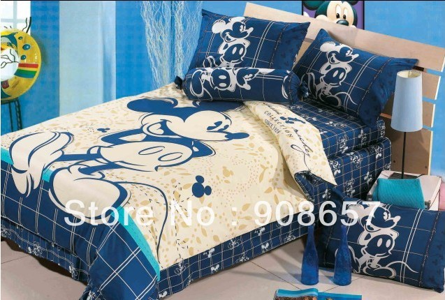 blue beige mickey mouse character bedding twin full queen king size  comforter cotton quilt duvet covers. Popular Mickey Mouse Full Sheet Sets Buy Cheap Mickey Mouse Full