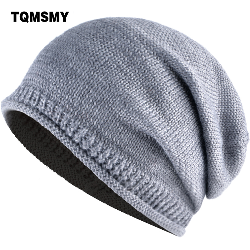 TQMSMY Men Women Winter Wool Knitted Beanies Cap Skullies Hats Woman unisex solid color Ski Gorros Female balaclava Cap TMS95