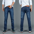 The New 2016 Men Jeans Big Yards Straight Men Leisure Trousers The Blue Man Jeans