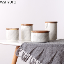 Jars Ceramic-Storage-Jars Candy Nordic Cans Biscuit Marbled Home-Accessories WSHYUFEI