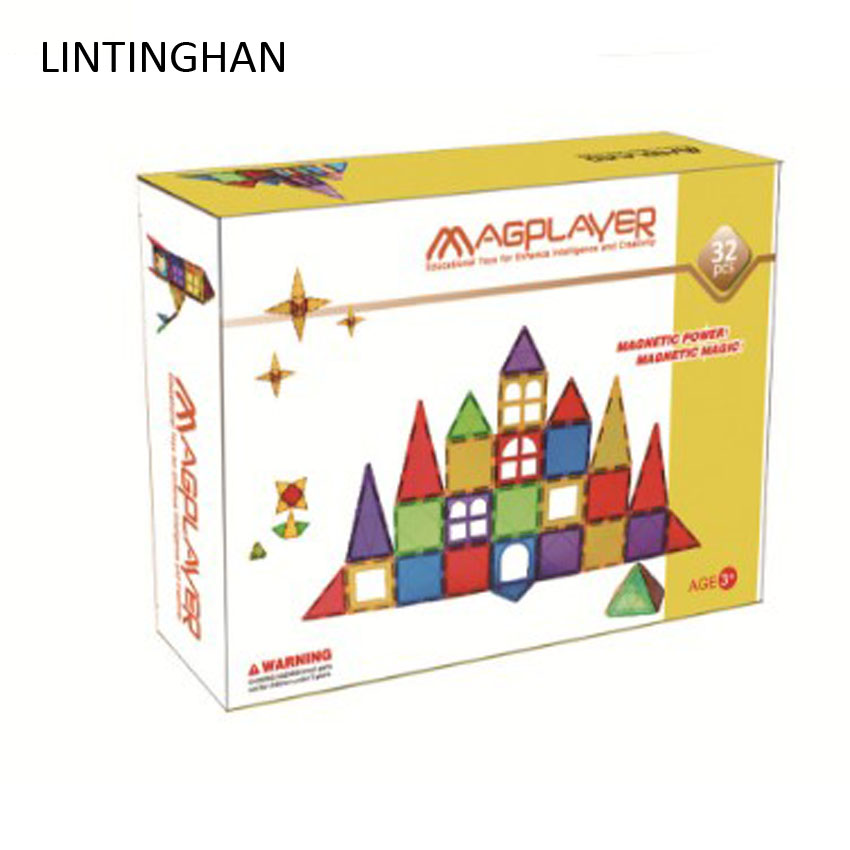Color window magnetic color box set magnetic assembly puzzle children building blocks construction piece light transparent toys