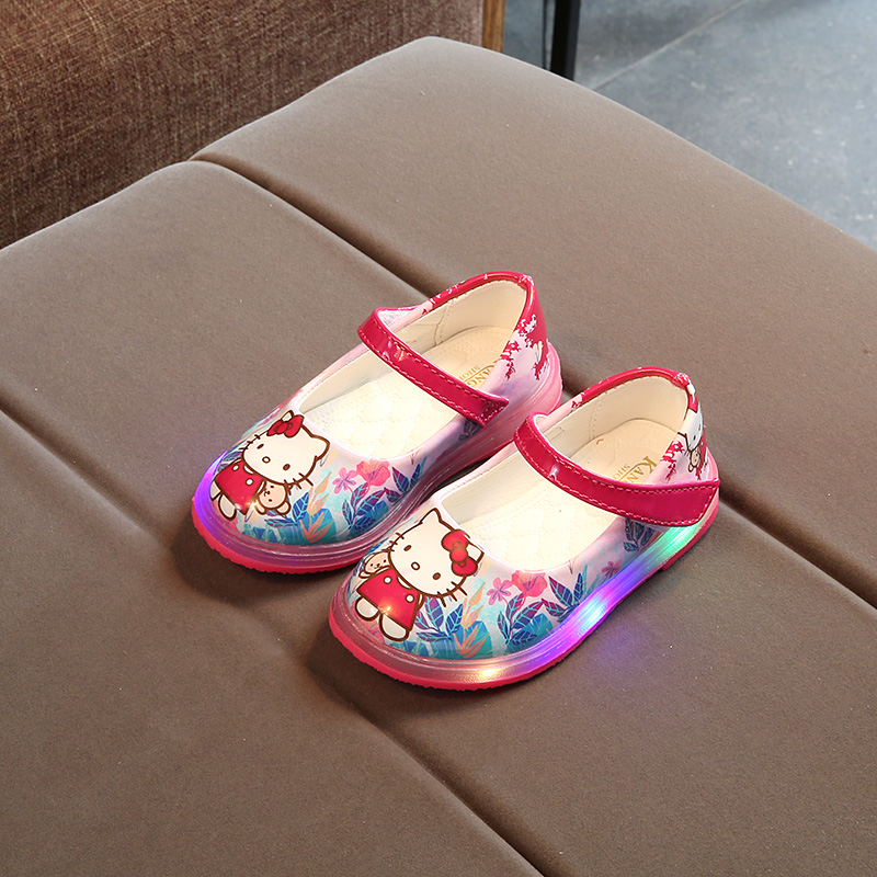 ad803b096 KKABYYII Cute Baby Girl Causal LED Flash Shoes Lovely Hello Kitty Lighted  Flat Shoe girls Children Kid Light Multicolor shoes-in Sneakers from Mother  & Kids ...