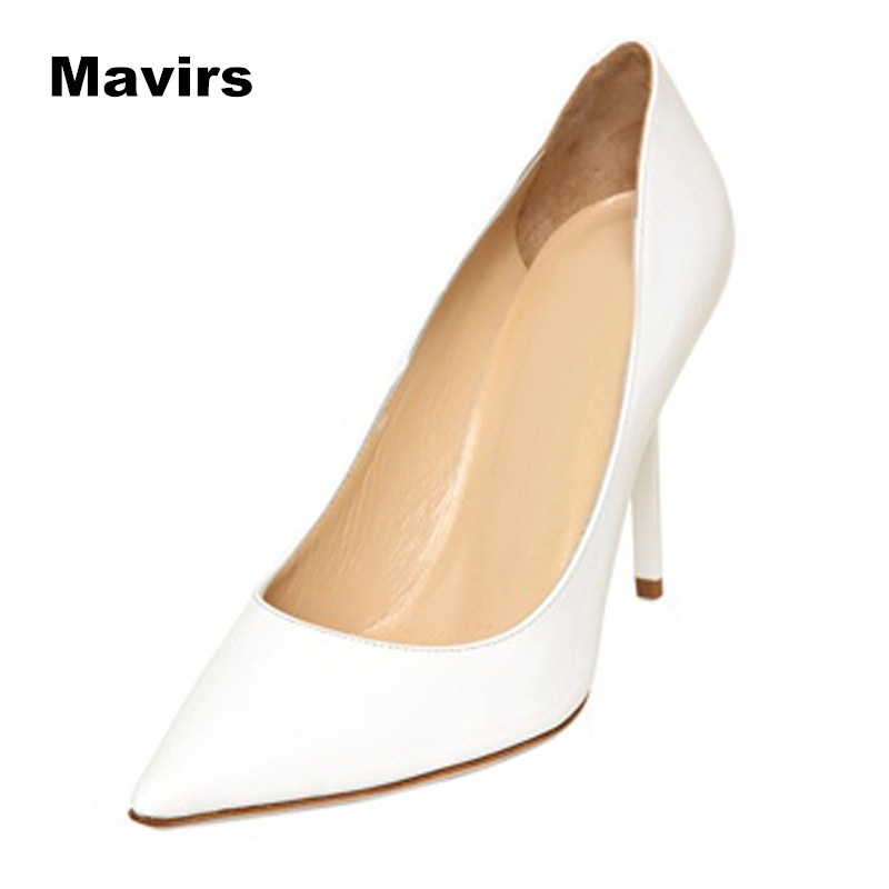 Mavirs 2017 Fashion Spring Autumn Pointed Toe High Heels Women Pumps Footwear Stiletto Female Ladies Shoes Bridal Wedding Party fashion women wedding shoes rhinestone square buckle 90mm middle stiletto heels low cut vamp pointed toe jeweled bridal shoes