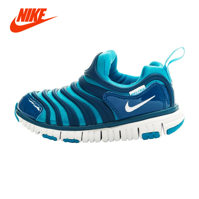 5748ee7beab Original NIKE DYNAMO FREE Caterpillar Baby Kid Sneakers Boy Lightweight  Breathable Running Shoes Girl Children Sport Casual Shoe