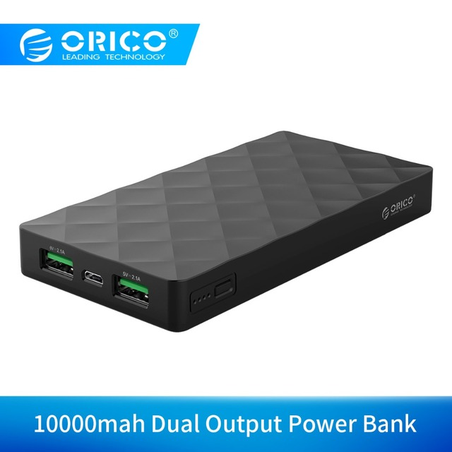 ORICO W10000 Portable Power Bank 10000mah Dual Output External Battery Charge For Mobile Phone Tablet