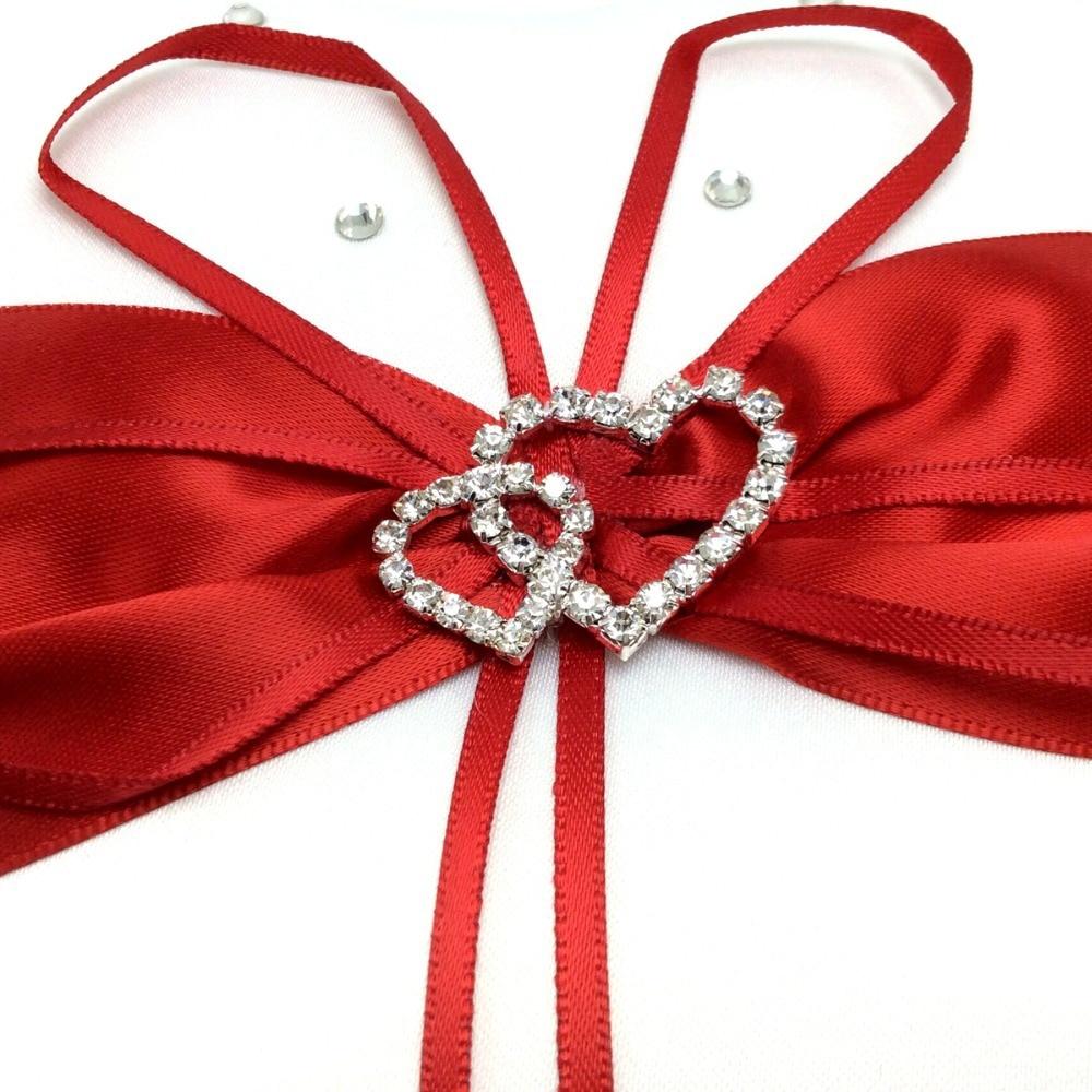 4 pièces/ensemble 5 couleurs décoration de mariage nuptiale Satin anneau oreiller + panier de fleurs + livre d'or + ensemble de stylos produits Casamente - 6
