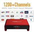 Árabe IPTV Caixa de Tv Android 6.0 wi-fi Forte & 1200 + Europa Francês Turco Espanhol Assinatura IPTV 2 GB/16G Do Bluetooth TV Player