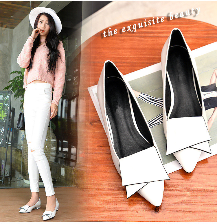 SHIDIWEIKE-2018-New-Pointed-Toe-Low-Heel-Pumps-Black-Red-White-Shallow-Mouth-1-5cm-Thick (1)