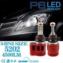 2PCS High quality NEW  DC11V-30V 45W 9000LM LED Headlight 5202 socket P6 360 Degree angle LED Bulb Canbus Kit