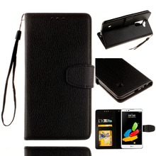 For LG Stylus 2 LS 775 Single Color Litchi Skin Wallet Card Leather Flip Funda Coque Case For LG Stylus 2 LS775 K520 Back Cover