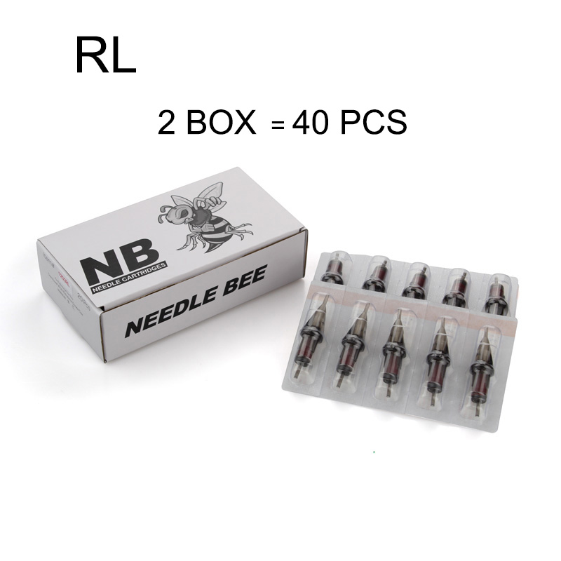 Cartridge Needles with membrane 40pcs lot RL Disposable Sterile Tattoo Needles For Tattoo Rotary Pen Round