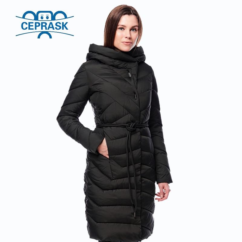 63a15bb3e60 2018 New Winter Jacket Women Plus Size Long Warm Thicken Fashion Womens  Winter Coat Hooded Down Jackets Parka Femme Ceprask-in Parkas from Women s  Clothing ...