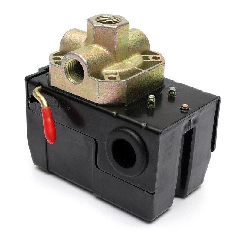 Pressure Switch Control Valve 90-120PSI 4 Air Compressor PORT 26 AMP Unloader 2 Pole Rating  240VAC Popular vertical type replacement part 1 port spdt air compressor pump pressure on off knob switch control valve 80 115 psi ac220 240v