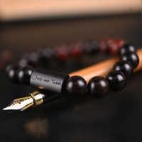 Pulsera de cuentas con nombre personalizado para hombre, brazalete de madera para hombre, pulsera de regalo personalizada para hombre