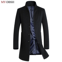 New 2018 MYDBSH Brand Mens Autumn Jacket Fashion Casual Classic Trench Coats Men Stand-Collar Fit Jackets Coats Free Shipping