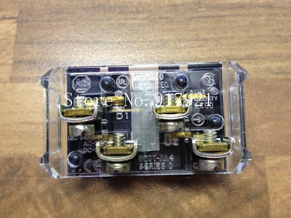 [ZOB] The United States Allen-Bradley Rockwell A-B 800T-XA4 NO NC FXT button contact --2PCS/LOT allen bradley 1756 a7 b 1756a7 controllogix 7 slots chassis new and original 100