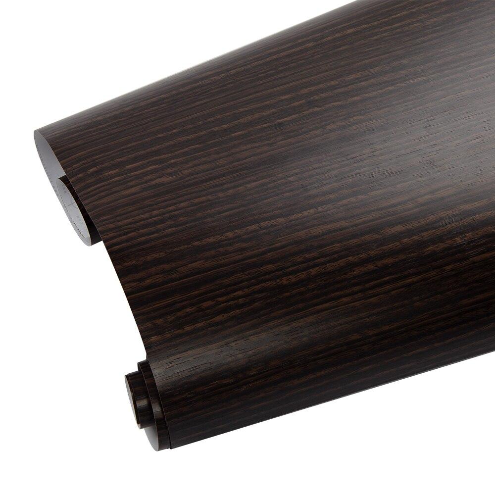 124 cm * 500 cm décalcomanie interne de voiture de Film auto-adhésif texturé de vinyle de Grain en bois pour le bureau à la maison 48.8 ''x 196.8''