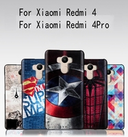 New Fashion 3D Relief Silicon Cartoon Soft Cover Case For Xiaomi Redmi 4 Pro Case 32gb