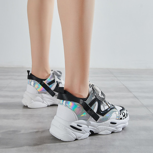 Image 3 - Women Shoes Platform Casual Sneakers Fashion High Increasing Ladies Shoes Chunky Dad Shoes Mixed Colors Scarpe Donna Footwear