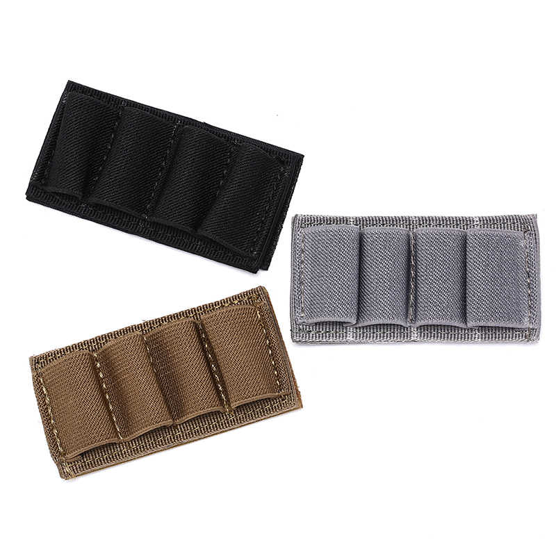 nylon Military Magazine Molle Pouch Hunting Pouch Hunting Stick Shotgun Shell Ammo Carry Holder 4 Shells Reload Strip