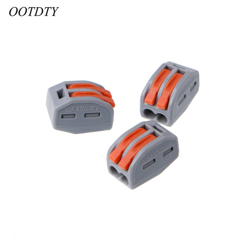 Ootdty 20pcs 222 412 Push Wire Connector Type Transparent