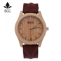 Fashion Brand Mens Watches Luxury Imitation Wooden Watch Men Vintage Leather Quartz Wood Color Male Watch