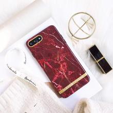 Samtsui Red Marble Texture Phone Case For iPhone 6 6s 7 8 Plus IMD Soft TPU Cover For iPhone X XS XMAX XR Case Capa For Female цена