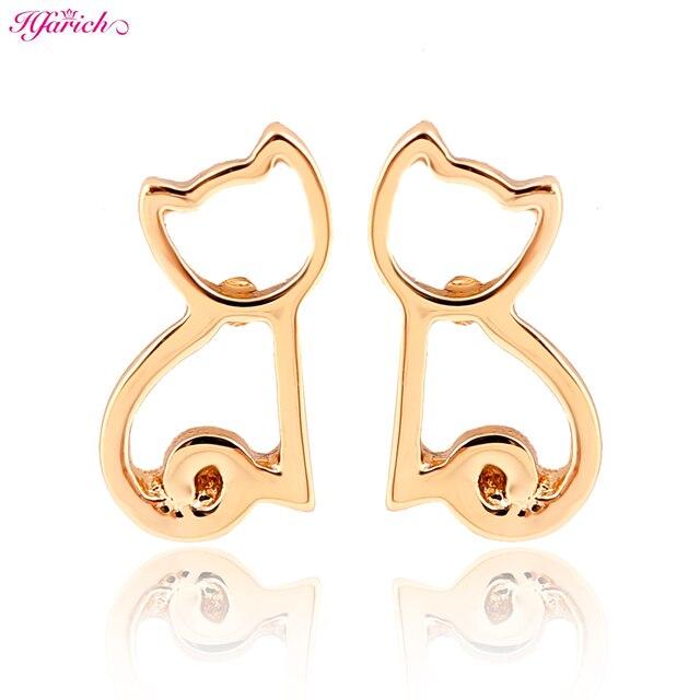 Hfarich New Arrival Cute brincos Animal Cat Earring Small earrings for women Party Earrings EY-E113