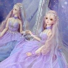 DBS rüya peri 1/3 bjd 60cm doll ortak vücut SD oyuncak dahil olmak üzere saç elbise ayakkabı headdress kız hediye