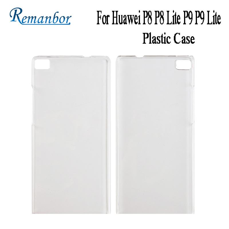 Remanbor For Huawei P8 P8 Lite P9 P9 Lite Hard Plastic Case Protector Transparent Back Cover for