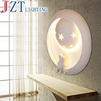 ZYY LED g9 Gypsum Art Cartoon Wall Lamp Weight 3kg Size Dia33*T7cm Pure Handmade Concise Lamp For Corridor Children Room Bedroom