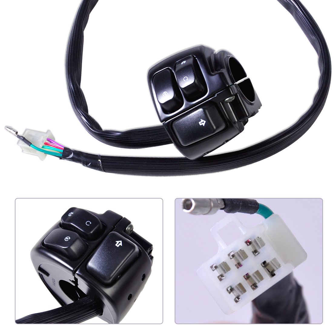 Dwcx Motorcycle 1 Handlebar Ignition Turn Signal Switch Wiring Harness For Harley Softail Dyna Sportster 1200 883 V Rod In Switches From Blinker