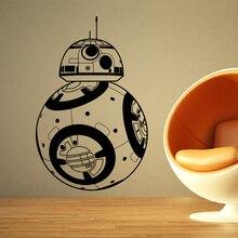 Star Wars BB-8 Wall Stickers Home decor Movie robot DIY 3D Vinyl Decal Geek Gamer Removable Mural wallpaper Kids room