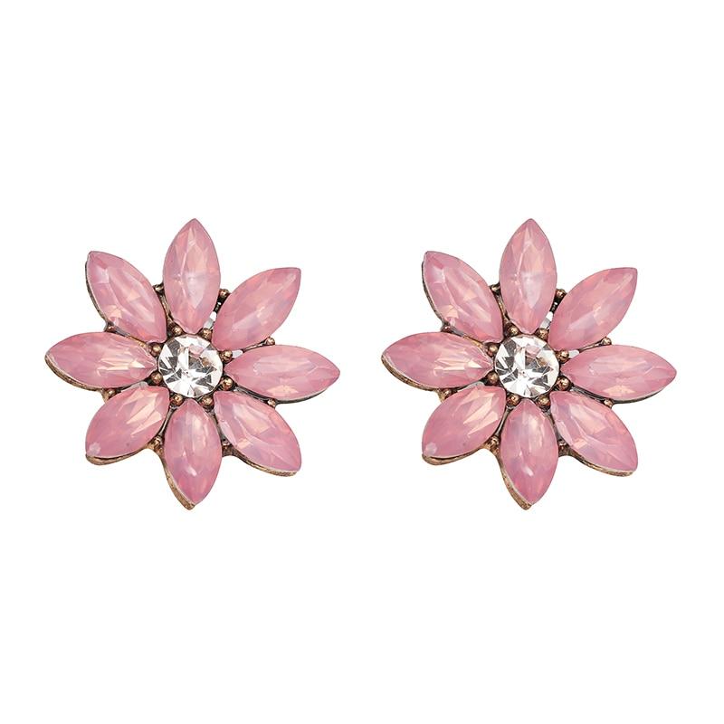 Нови блестящи цветни обеци от горни - Модни бижута - Снимка 4