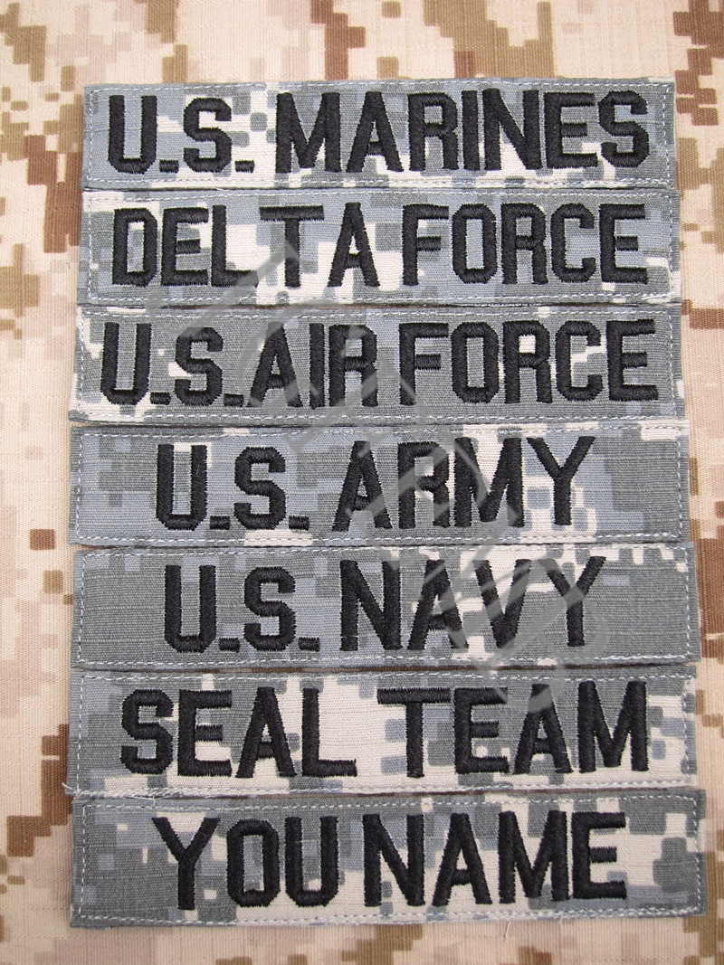 ACU Custom Name tapes Chest Tapes Services Tapes moraal tactisch militair Borduur patch Badges
