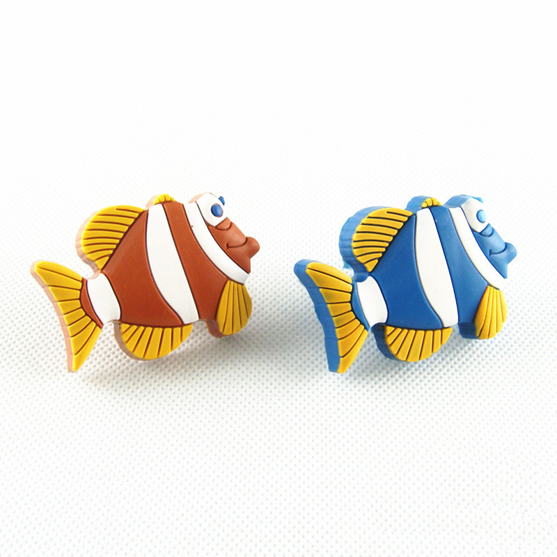 1x Soft Gum Furniture Door Pull Handle Cabinet Dresser Drawer Knobs Protect Kids Baby Room Funiture Drawer Door Pulls Fish Shape