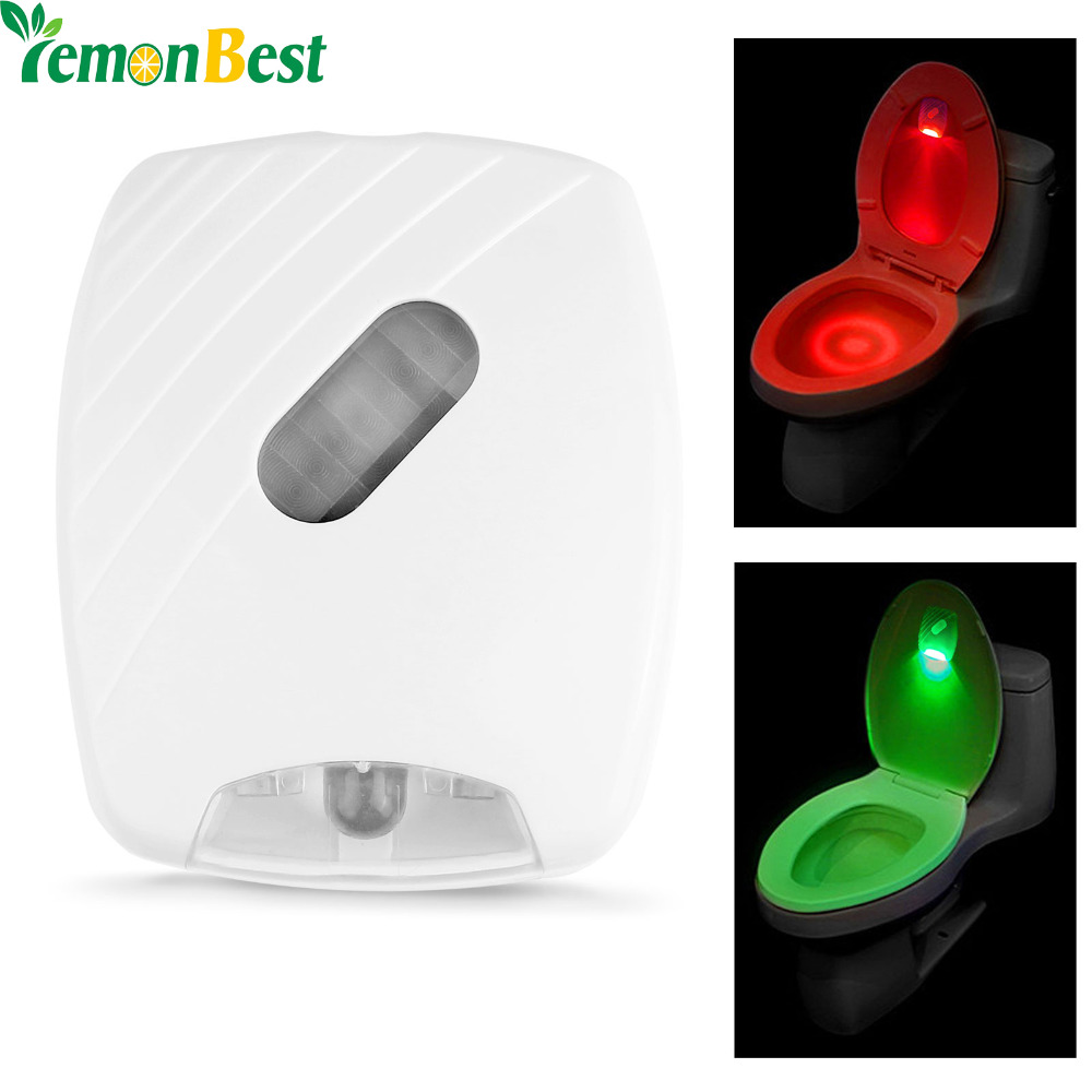 Automatic led energy saving night lamp - Led Toilet Night Light Motion Sensor Automatic Toilet Night Lamp With Red And Green Light Battery